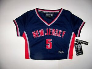 New Jersey #5 Kids Girls Basketball Jersey Top - Size S