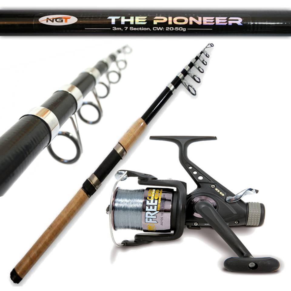Pioneer Fishing Rod 3M 10FT Cork Handle + 3BB CARP REEL