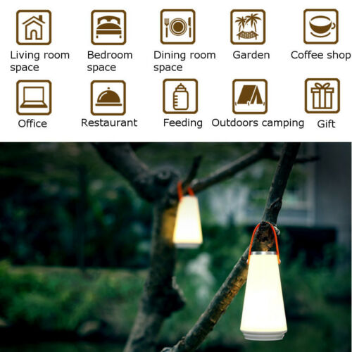 Rechargeable Dimmable USB LED Hiking Camping Lantern Night Light Outdoor Lamp W