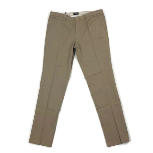 Hugo Boss Mens Chino Pants Slim Fit Stretch Kaito Khaki Tan 34 x 31