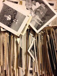 300 Old Photos Lot BW Vintage Photographs Snapshots Black White
