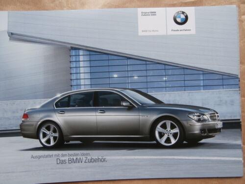 BMW serie 7er e65 e66 parti originali /& ACCESSORI PROSPEKT 2//2005 brochure