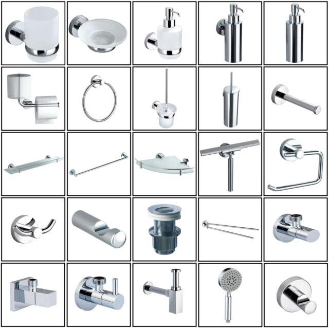 Bad Accessoires WC Papierhalter Glasablage Seifenspender WC-Bürste Seifenschale