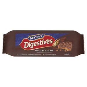 NEW McVitie's No Artificial Flavour Digestives Milk Chocolate Wheat Biscuit 300g