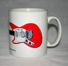 Guitar Mug. Kurt Cobain's Fiesta Red Fender Jag-Stang Illustration.