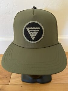 Homes-Brewery-Snapback-Hat-Olive-Green-amp-Black-Michigan-Beer-Trucker-Patch-Cap