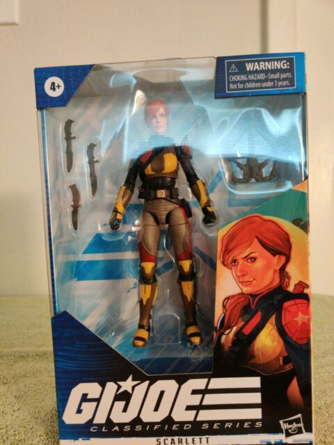 "Hasbro Gi Joe Classified 6"" Scarlett Action Figure"