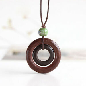 Fashion-Pendant-Handmade-Chain-Resin-Wood-Necklace-Jewelry-Gift-With-Brown-Rope