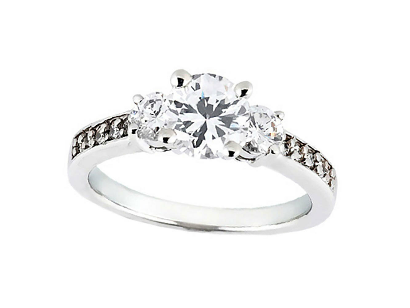 Natural 1.00Ct Round Cut Diamond Bridal Engagement Ring Solid 10k gold KL I1