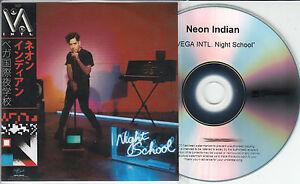 NEON-INDIAN-Vega-Intl-Night-School-2015-UK-numbered-14-track-promo-test-CD