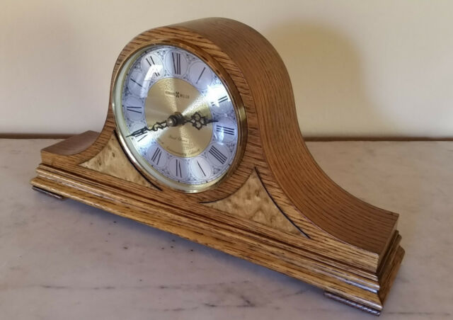 Howard Miller Quartz Mantel Clock 613 555 Dual Chime Oak 66th Aniversary Edition