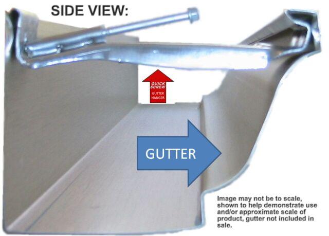 30 Premium Grade 5 Inch Quick Screw Hidden Rain Gutter Hangers With Clip Strong For Sale Online Ebay