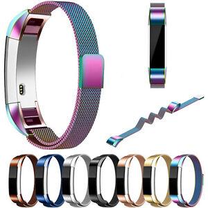 Milanais-magnetique-Clasp-boucle-acier-inoxydable-bracelet-pour-Fitbit-HR