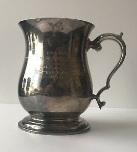 Antique-Pewter-Tankard-Derbyshire-Army-Cadet-Force-1962-Engraved-21