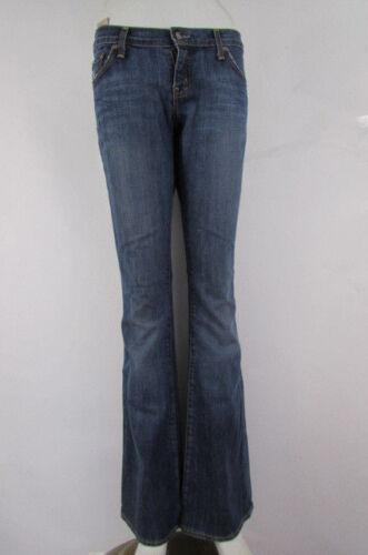 Moda Medio Svasato Donna Bootcut Blu 27w Denim Gamba Alta Larga Jeans 31l FA55zxwq
