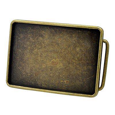 Antique Bronze Finish Blank Custom Western Style Metal Belt Buckle Engraving