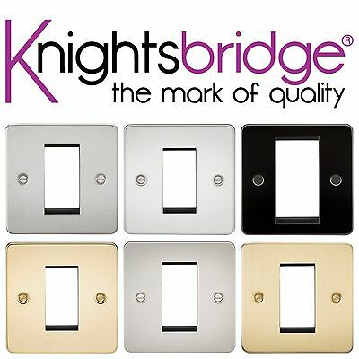 Pearl Knightsbridge Flat Plate 4G Modular Electrical Switch Faceplate Cover