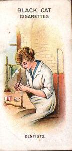 1916-Carreras-Ltd-Black-Cat-Cigarettes-WWI-Card-034-Women-on-War-Work-034-Dentists