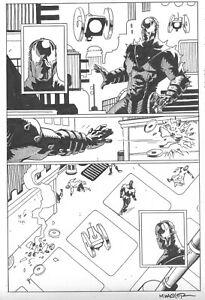 GRENDEL: DEVIL'S ODYSSEY # 5 Pg. 17 by MATT WAGNER! SIGNED!! 1/2 PAGE SPLASH!!