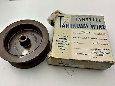 Tantalum Metal Wire 0.007 in 0.177 mm Diameter 99.9/%  Pure 4 m ~ 13.12 ft