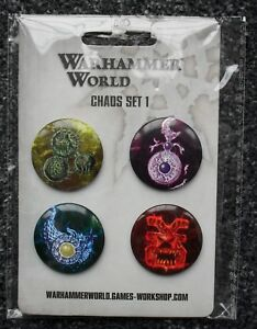 Games Workshop-warhammer World Exclusive-chaos Badge Set-nouveau-afficher Le Titre D'origine éLéGant Dans Le Style