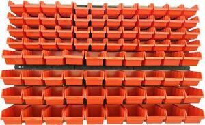 94-teiliges-SET-Lagersichtboxenwand-Stapelboxen-mit-Montagewand-Werkzeugwand