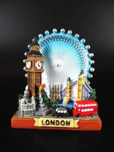 London Eye Collage Poly Modell,10cm,Big Ben,Tower Bridge,Trafalgar !
