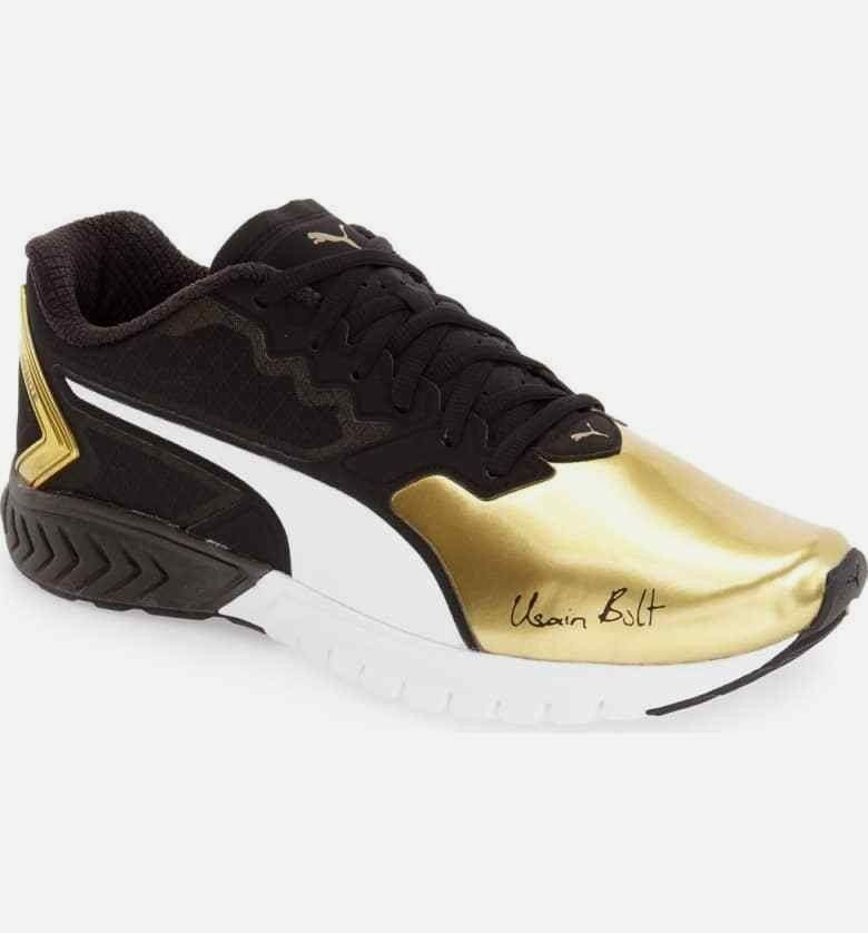 PUMA Ignite Dual Usain Bolt gold Tip Running shoes Men's US 10