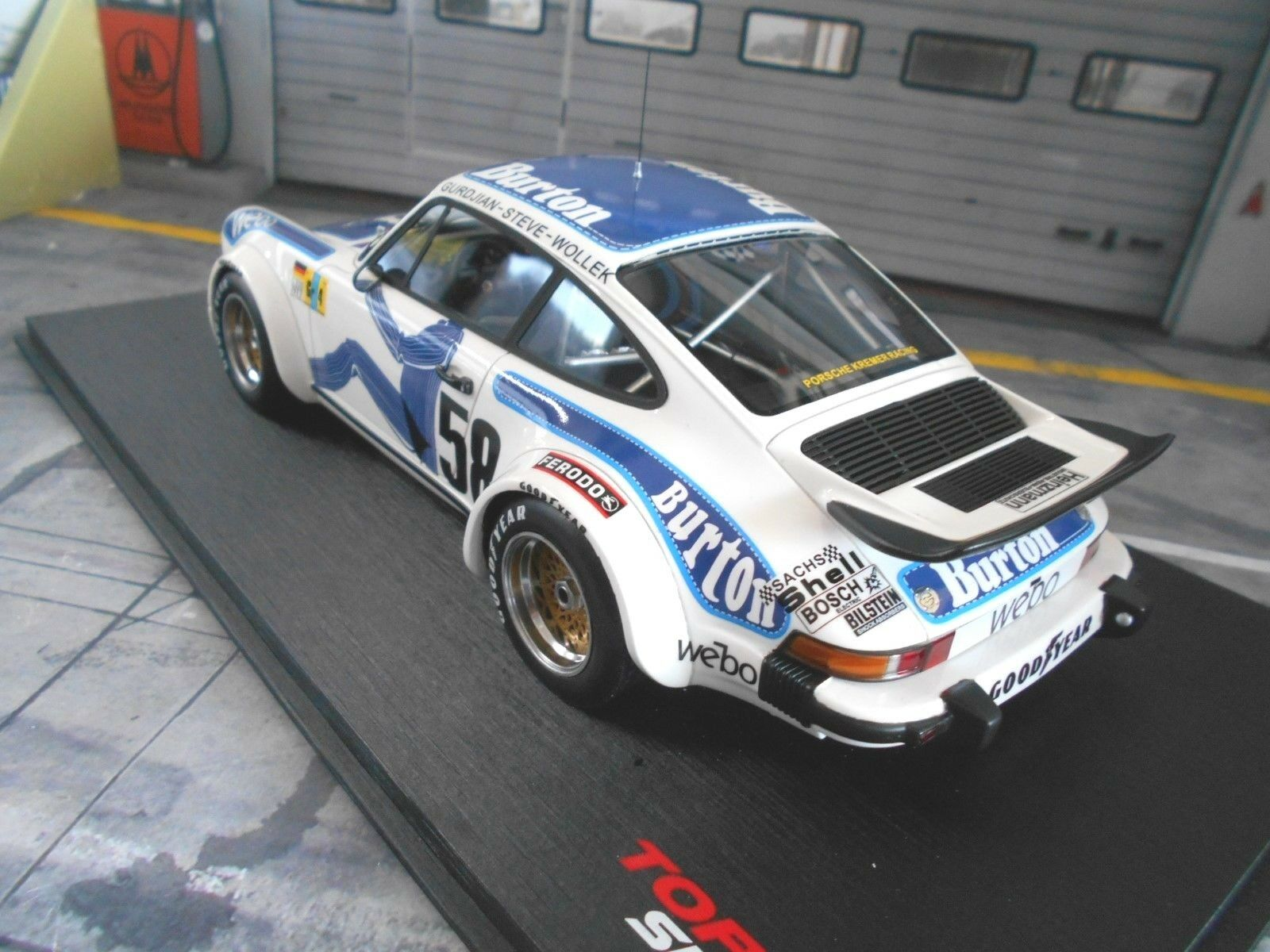 PORSCHE 911 934 934 934 Turbo Le Mans 1977 Kremer Wollek Burton TSM Top Speed 1 18 bd041a