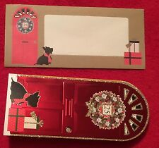 Scottish Terrier Scottie Dog Christmas Cards /MATCHING Envelopes 16 Blingy Cards