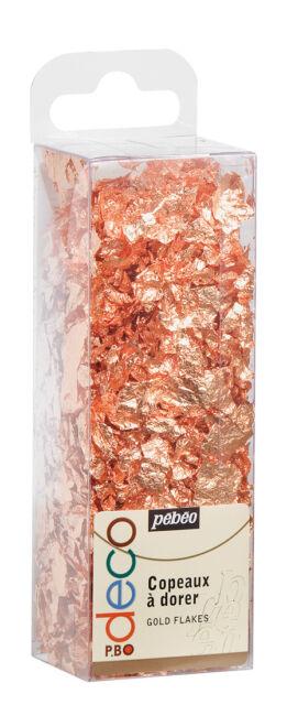 Pebeo Deco Copper Gilding Foil Flakes 1.5g Pack - Art, Craft, Mixed Media, Decor