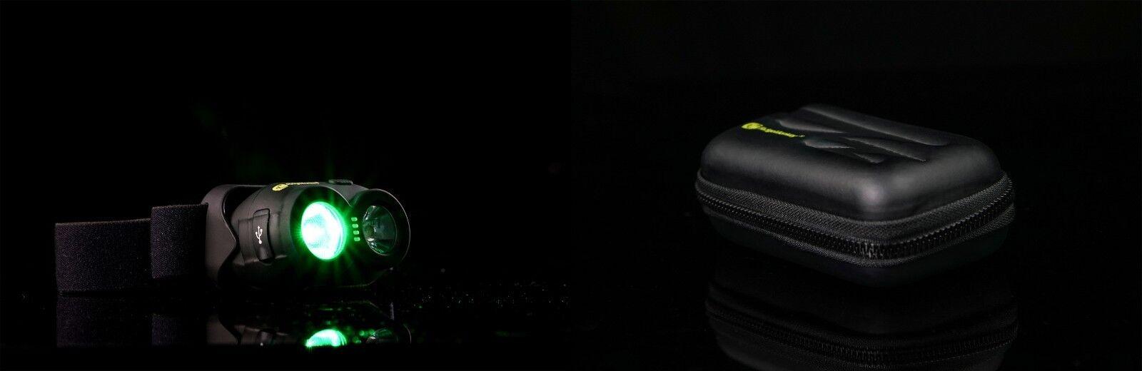 NUOVO ridgemonkey VRH150 Headtorch & gorillal TECH caso 45-Pesca Carpa Illuminazione