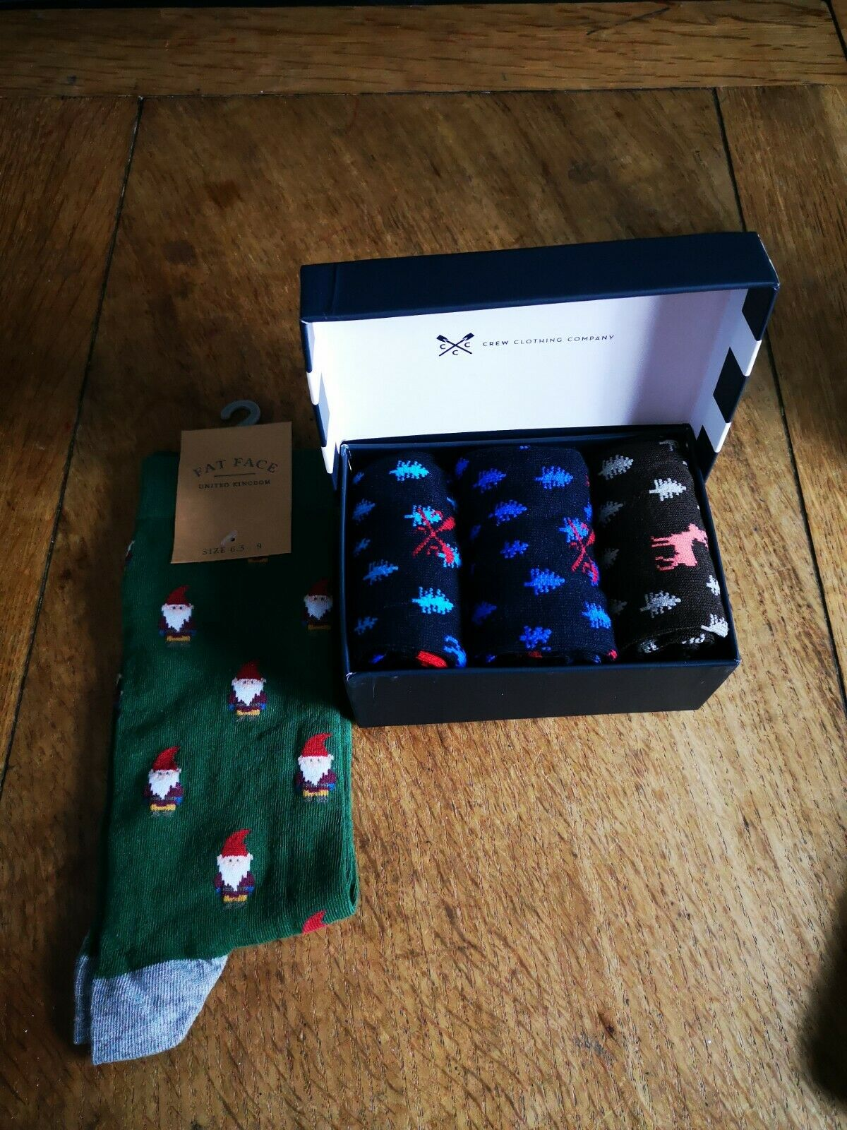 4x Christmas socks bundle CREW, Fat Face - New with defects