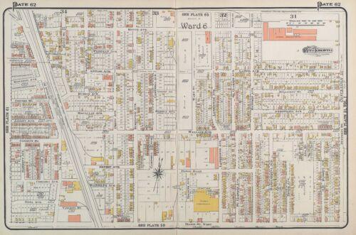 1910 CHARLES E CANADA DUNLOP/'S GREENHOUSES TORONTO GOAD COPY PLAT ATLAS MAP