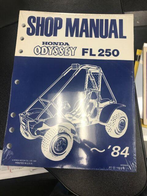 Honda Ofyssey Fl250 Shop Manual  U201884