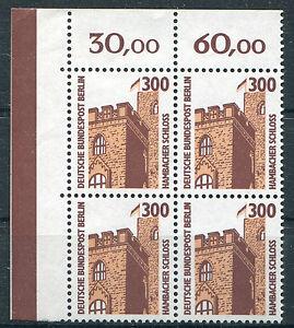 Berlin-799-postfrisch-Eckrand-Viererblock-Ecke-1-Sehenswuerdigkeiten-VB-SWK