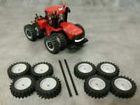 1/64 Farm custom scratch 20.8 R46 tractor tire kit gray rims + axels