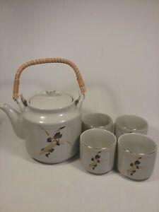 Iris Accent pattern Vintage Otagiri Japanese tea pot