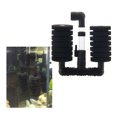 "Aquarium Biochemical Sponge Filter Fish Tank Air Pump fit for 11.81"" Aquarium"