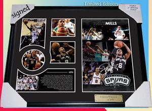 New Patrick Patty Mills Signed San Antonio Spurs Limited Edition Memorabilia
