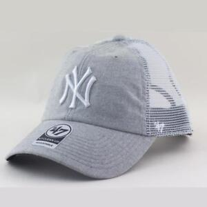 0414d1a6333 New York Yankees MLB Supporters Trucker Hat Vaughn Cap From 47 Brand ...