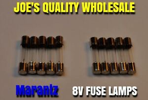10 FUSE 8v 250mA LAMPS /BULBS/29MM/2230/2226B METER 2385/DIAL 4420 2250 Marantz