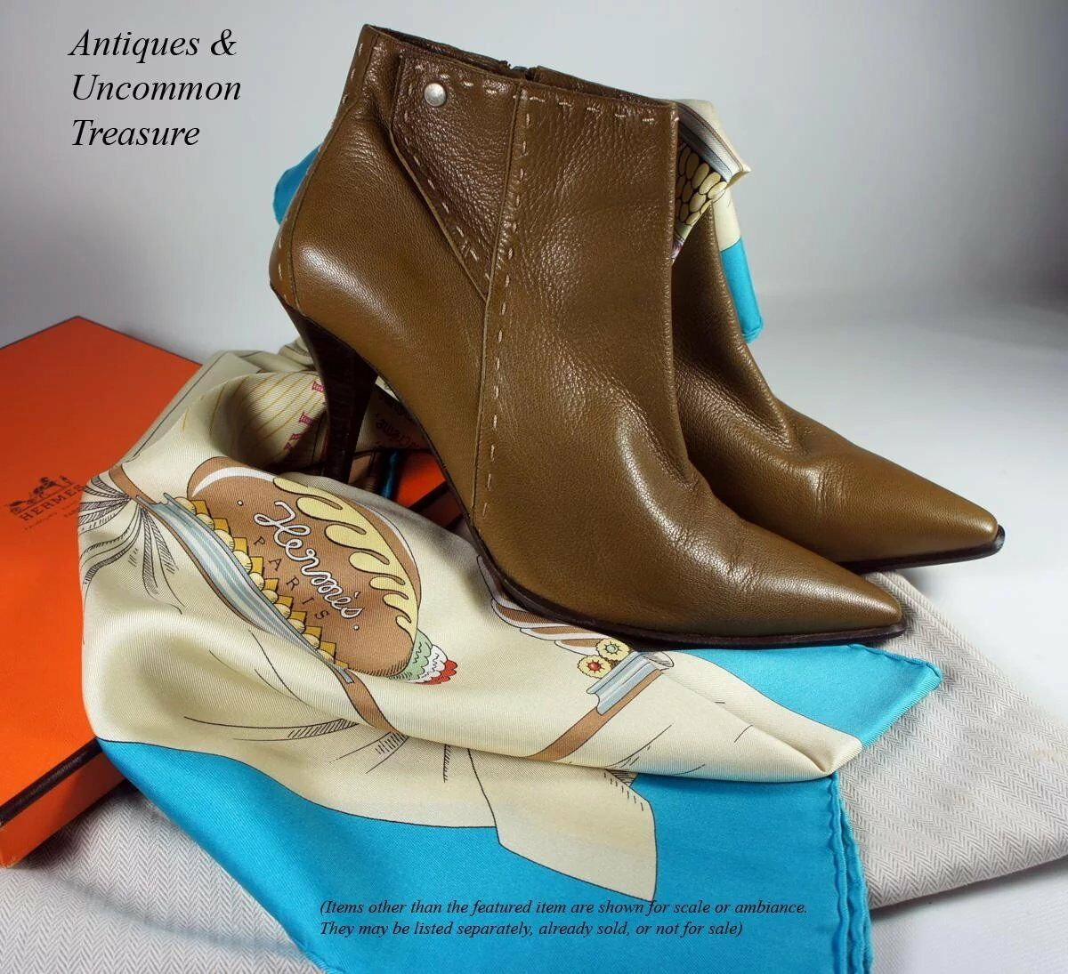 Elegant HERMES Ankle bottes, démarrageies, in Camel Couleur, Cream Top Top Top Stitch, 3  Heel 2cfc4a