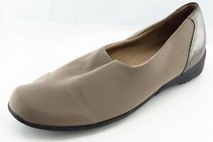 Munro-Loafers-Gray-Fabric-Women-Shoes-Size-8-Wide-C-D-W
