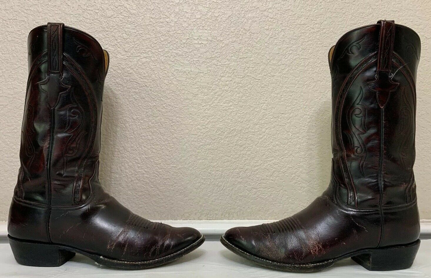 Lucchese Classics handmadecuir Bottes L0070 Noir CHERRY Taille 11.5 11 1 2