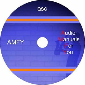 Qsc-servicemanuals-ownersmanuals-and-schematics-on-1-dvd