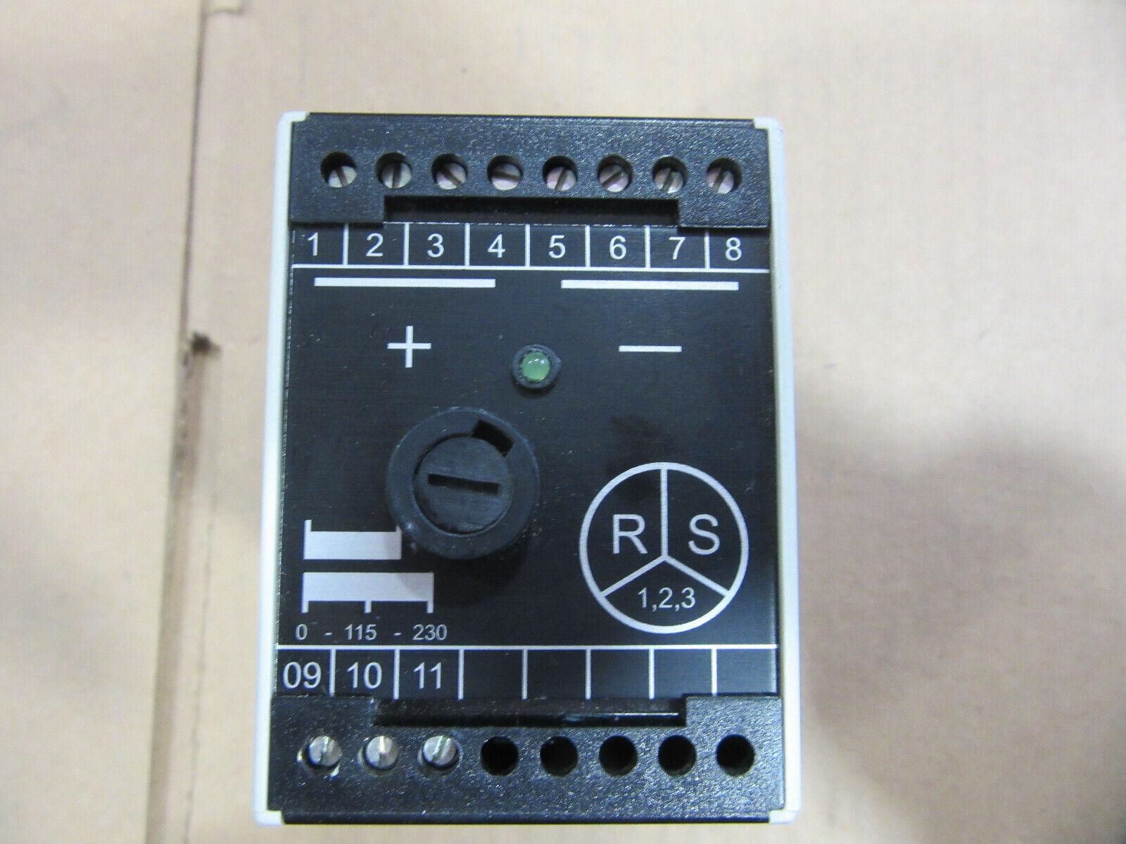 Robers PGSV0001 Control Transformer 24VA Primary 230 115V Secondary 24VDC VGC