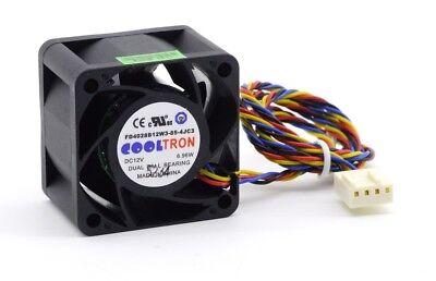 Herzhaft 40x28mm Dual Ball Bearing 14600rpm High Speed Fan Lüfter Dc12v 4-pin 4-wire 40mm