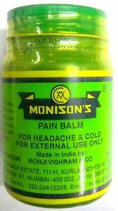 Monisons Pain Balm 25g/0.8oz Original Green Ointment For Headache