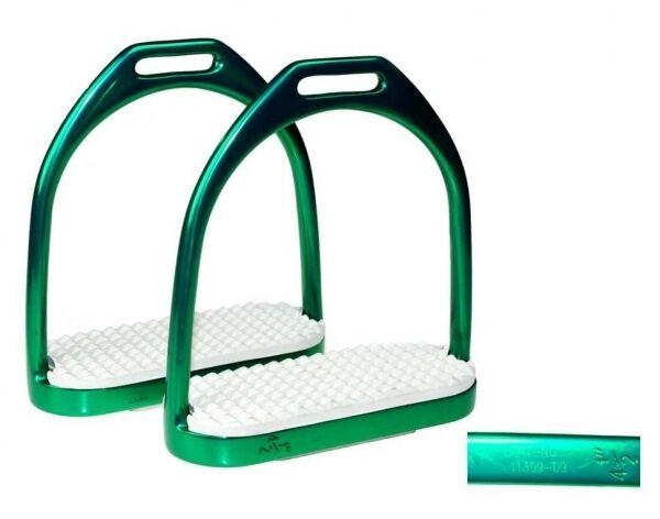 Steigbügel Edelstahl  grün grün grün  Zertifikat  11 5 cm ARBO-INOX® eec097